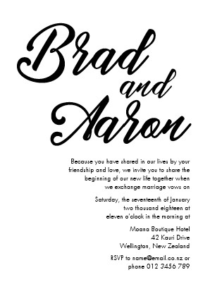 Kreativkitchen wedding invitations